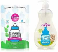Dapple Baby Bottle with Dapple Dishwasher Detergent Pacs