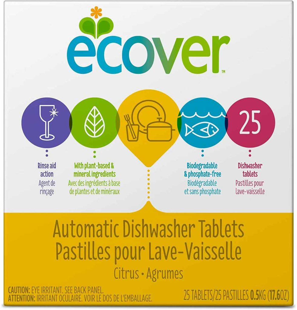 Ecover Dishwasher Tabs - Best Natural Automatic Dishwashing Tablets